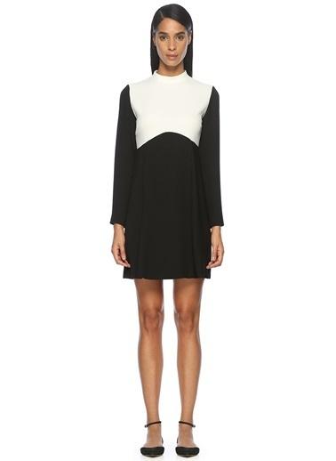Uzun Kollu Mini Elbise-Academia